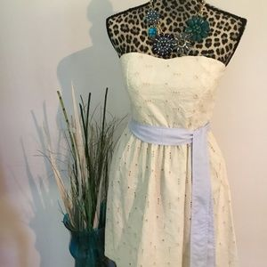 NWT Francesca's collection strapless dress.
